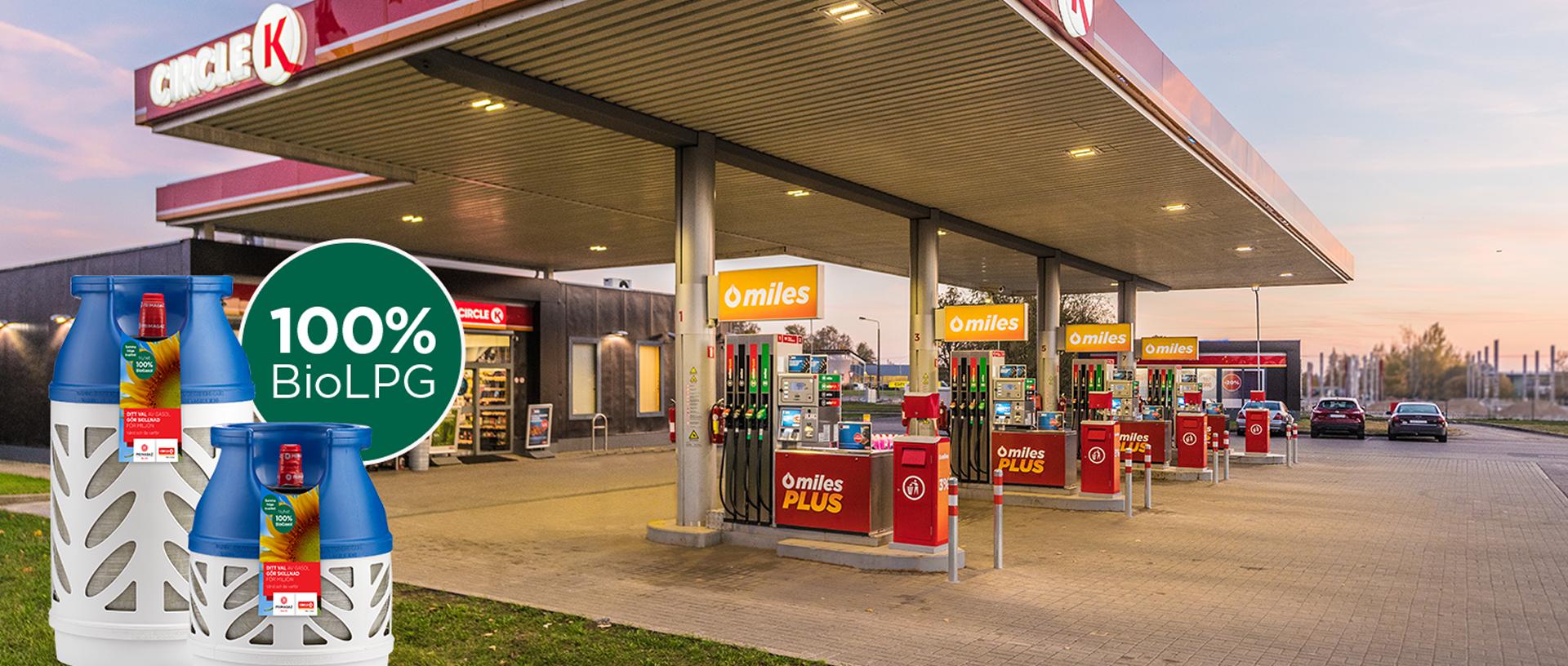 Circle K gas station in Sweden