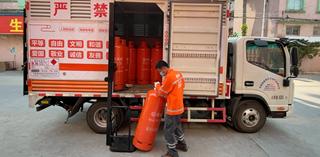 Man unloading truck