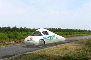 Efficient hydrogen-powered city car